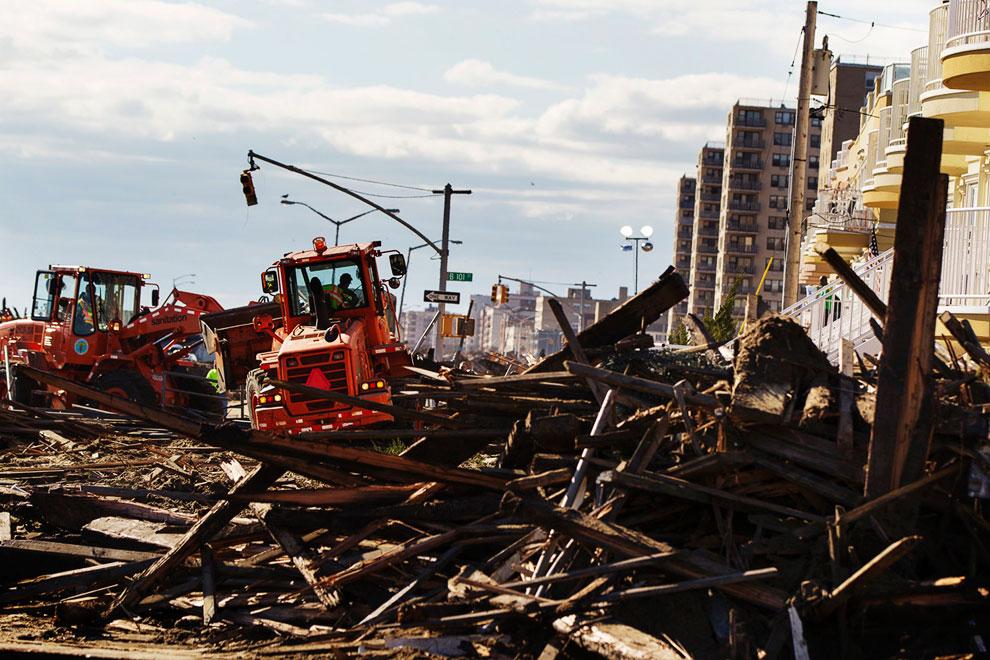 Расчистка завалов, Нью-Йорк
