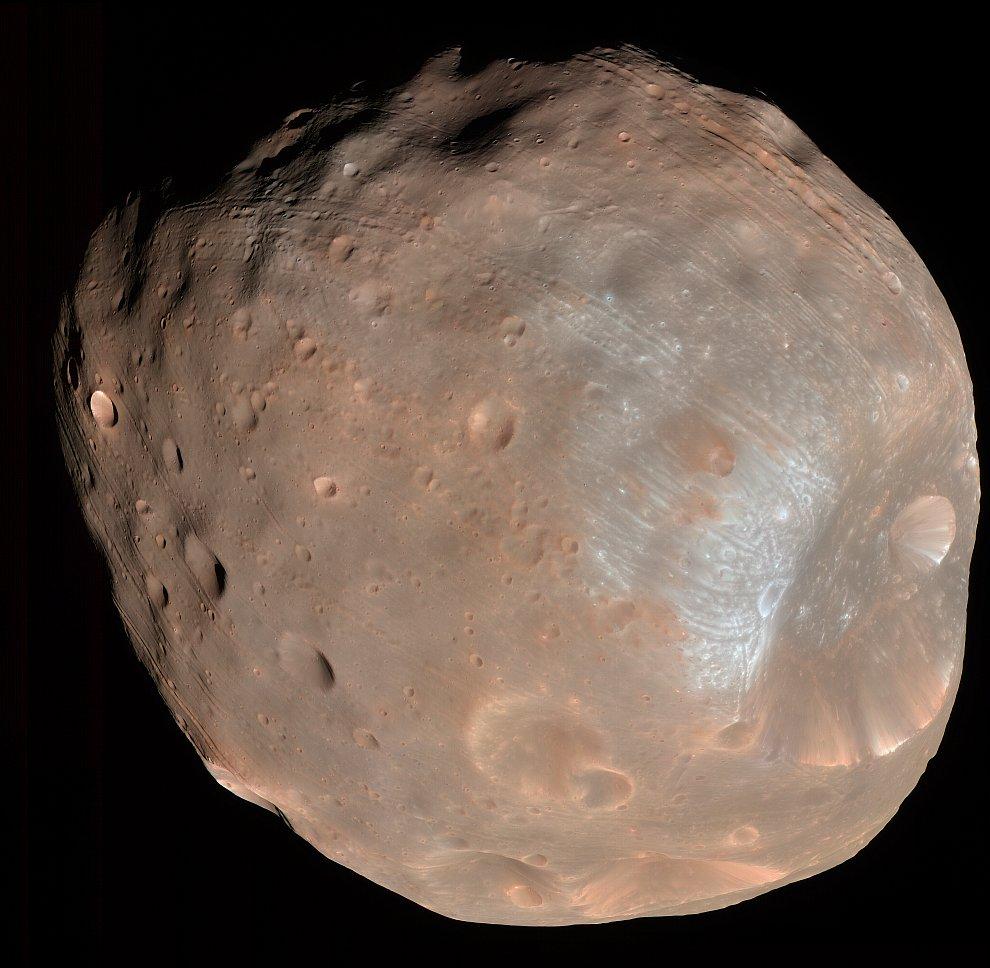 Фобос — один из двух спутников Марса