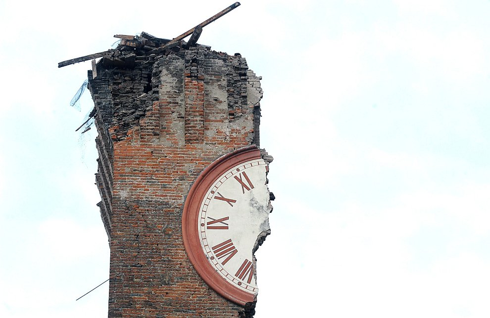 В ночь на 20 мая на севере Италии произошло землетрясение магнитудой 6.0 баллов, сильнейшее за последние 3 года