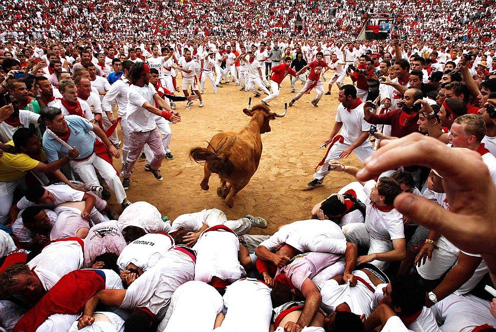 Энсьерро — совместных забегов по городу быков и людей