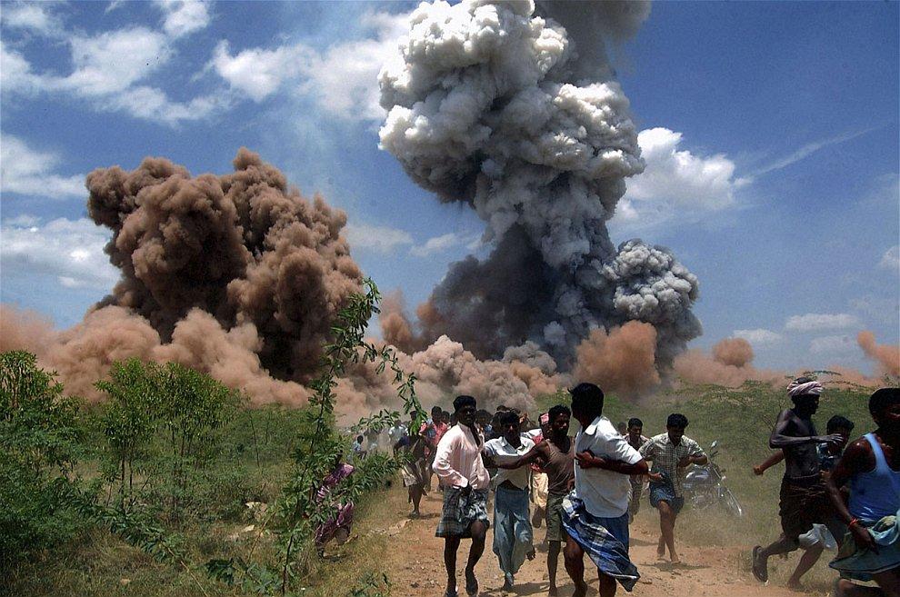 5 сентября 2012 в 500 км к юго-западу от Ченнаи, Индия на фабрике фейерверков произошел крупный пожар