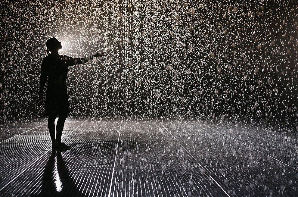 Любопытная инсталляция «Дождевая комната»
