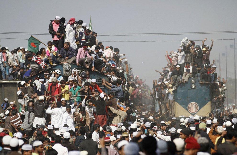 Возвращение на родину по-бангладешски — необычное зрелище