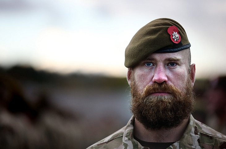 Портрет солдата из 1-го батальона Королевского полка Англии (Викинги)