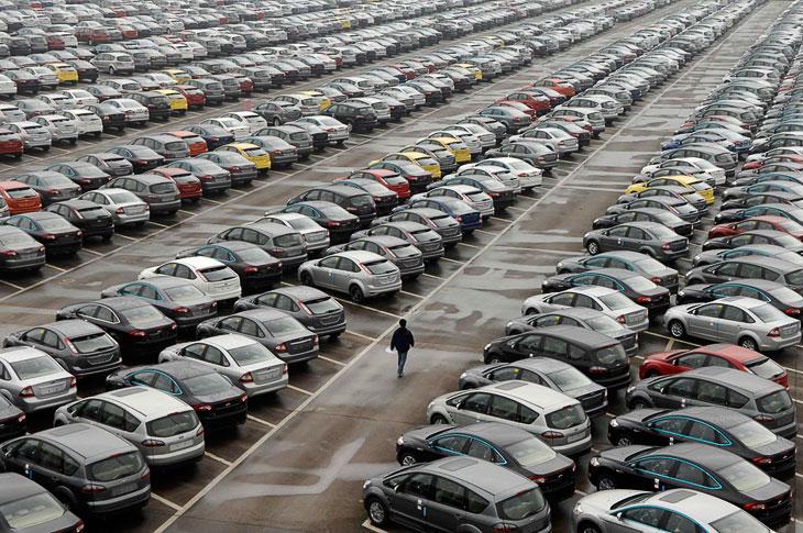 Ну а это площадка совместного предприятия Ford в городе Чунцин, Китай