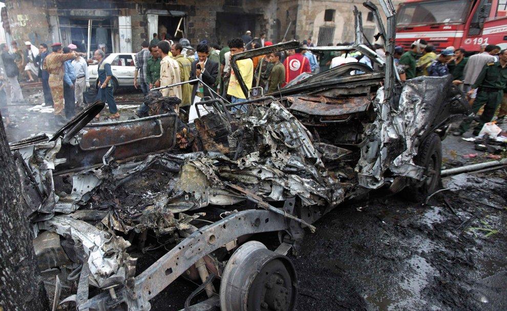 Это теракт в Сане, Йемен 11 сентября 2012