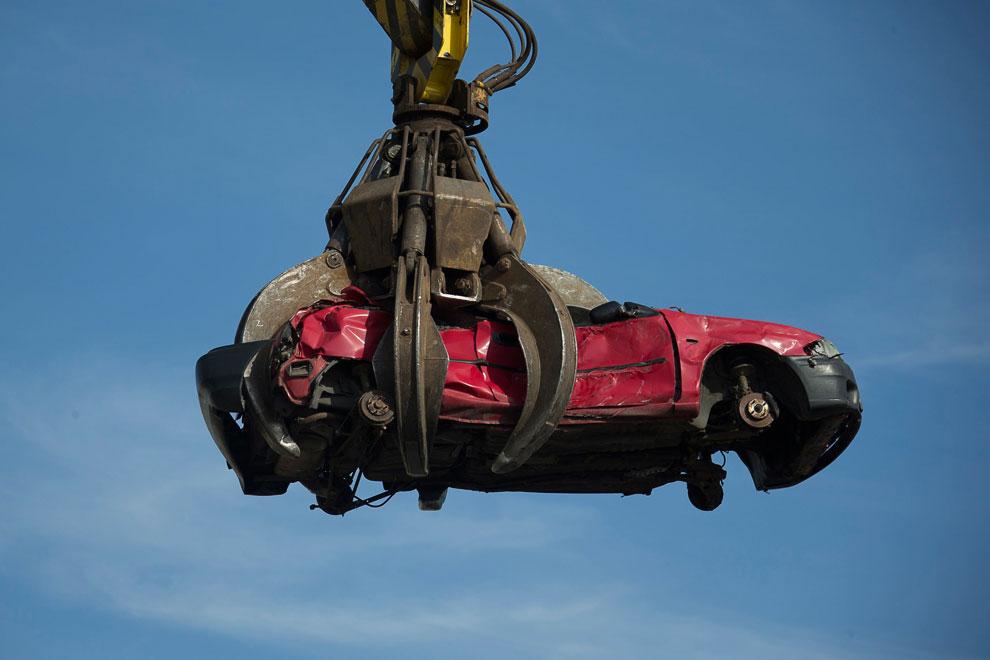 Предприятие по утилизации автомобилей в Германии