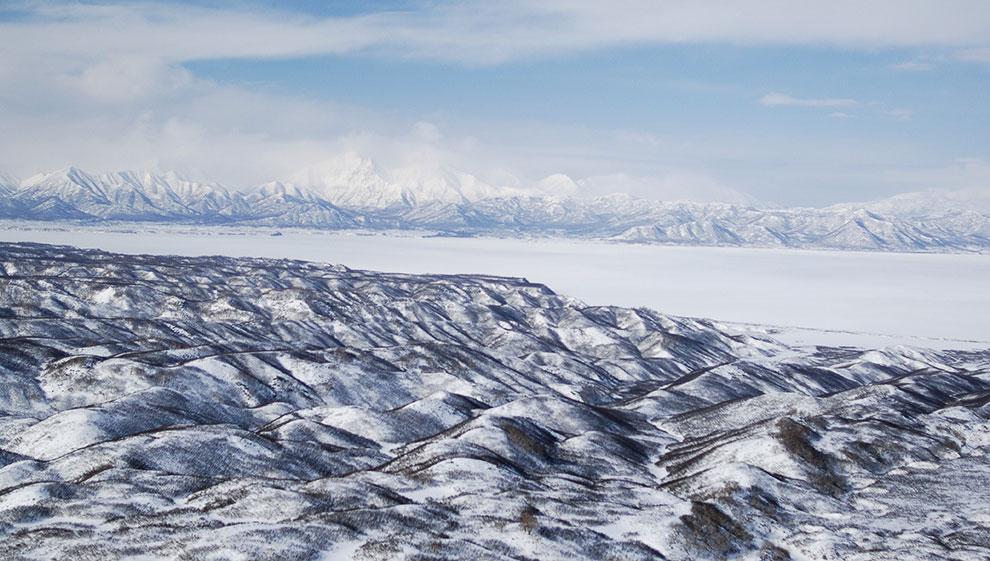 Замерзшее Кроноцкое озеро