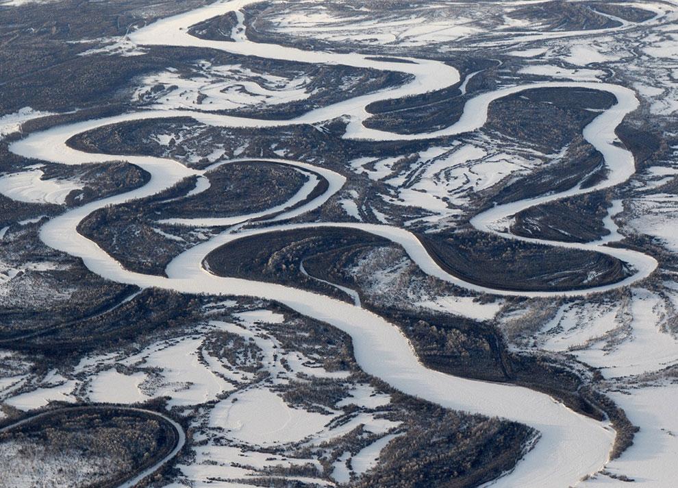 Меандры реки Камчатка