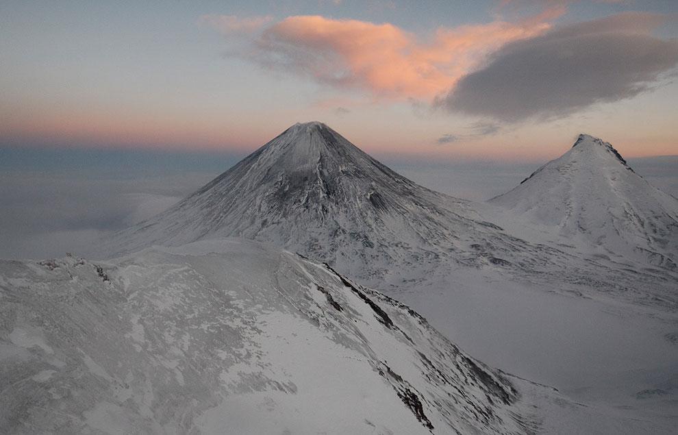 Самый высокий вулкан Евразии — Ключевская сопка