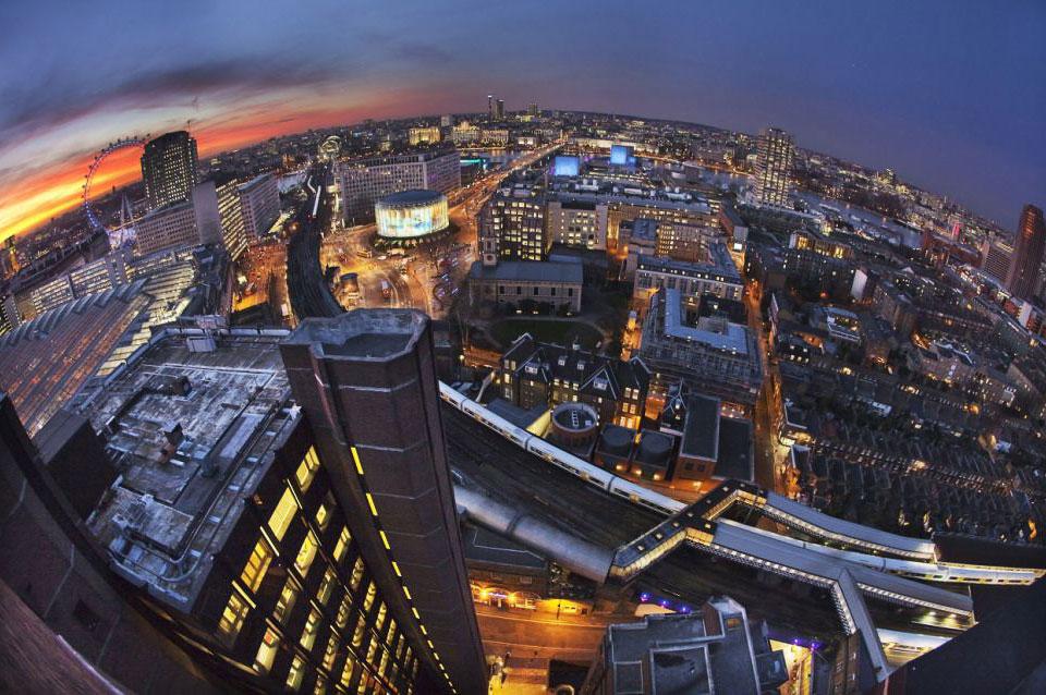 Закат с одной из лондонских крыш