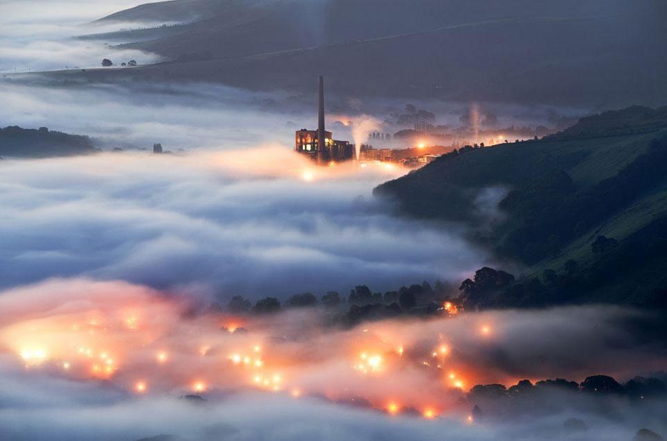 Цементный завод в графстве Дербишир