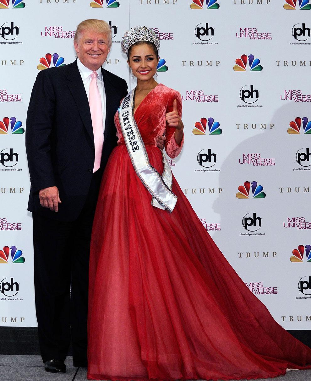 Победительница и владелец конкурса Дональд Трамп