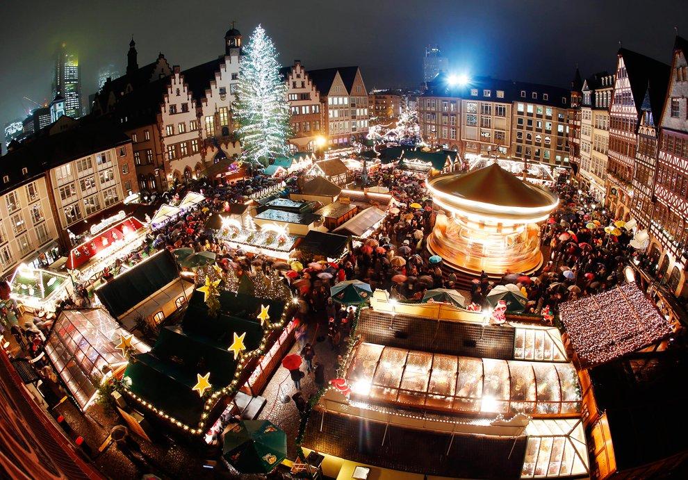 Церемония открытия Рождественской ярмарки во Франкфурте 26 ноября 2012