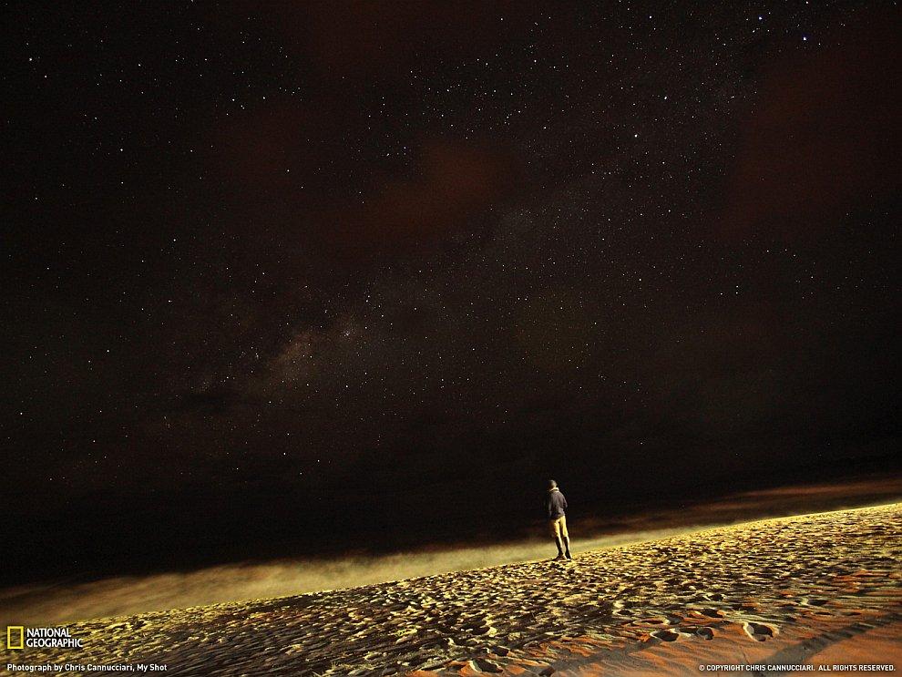 Звездочет на озере Малави, Африка