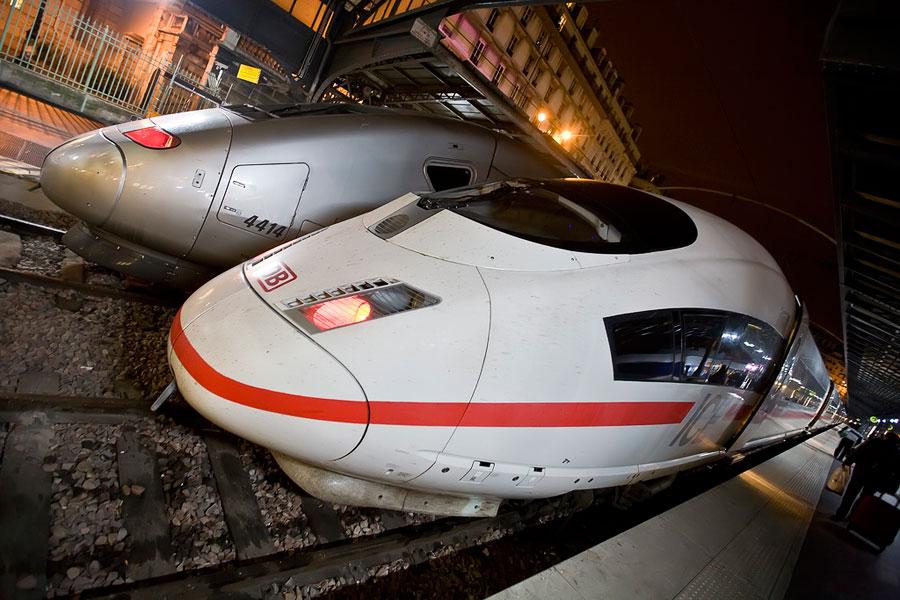 Trens de alta velocidade ICE e TGV