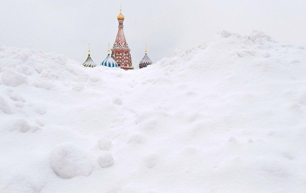 Нестандартный взгляд на Собор Василия Блаженного на Красной площади в Москве