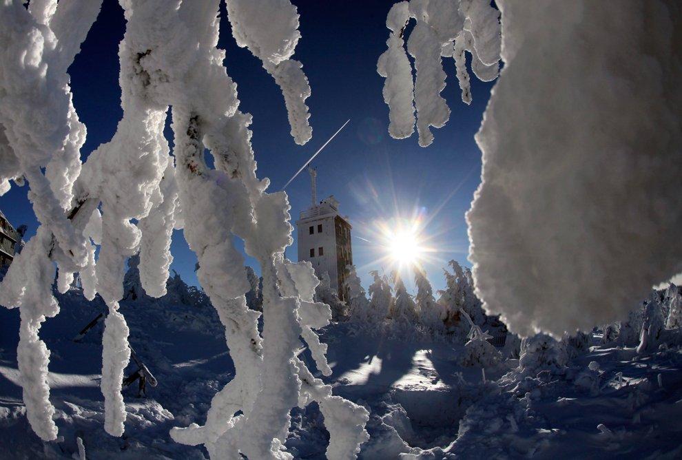 Снежный пейзаж из Юго-Восточной Германии