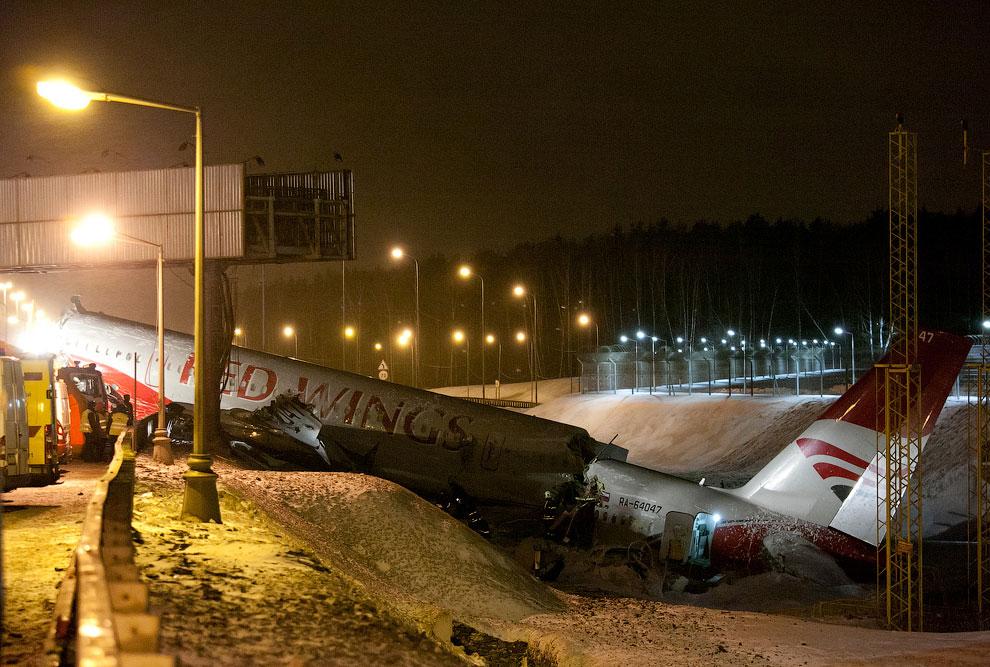 Крушение ту 204 в аэропорту внуково