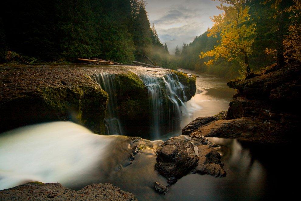 Закат в Национальном лесу Gifford Pinchot, США