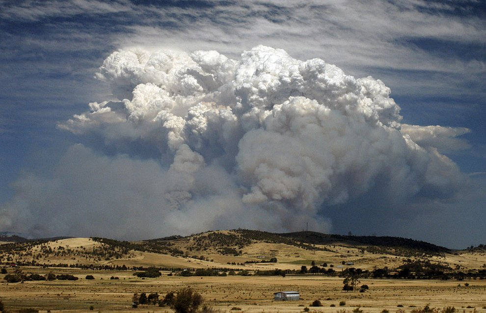 Властям Австралии в эти дни пришлось ввести новые цвета в шкале угрозы лесных пожаров — фиолетовый