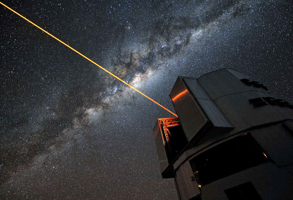 Лазер от VLT (анг. Very Large Telescope — «очень большой телескоп»)