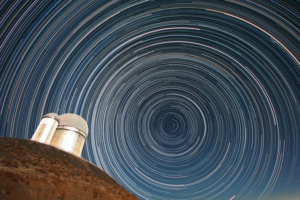 Звездные треки и 3.6-метровый телескоп
