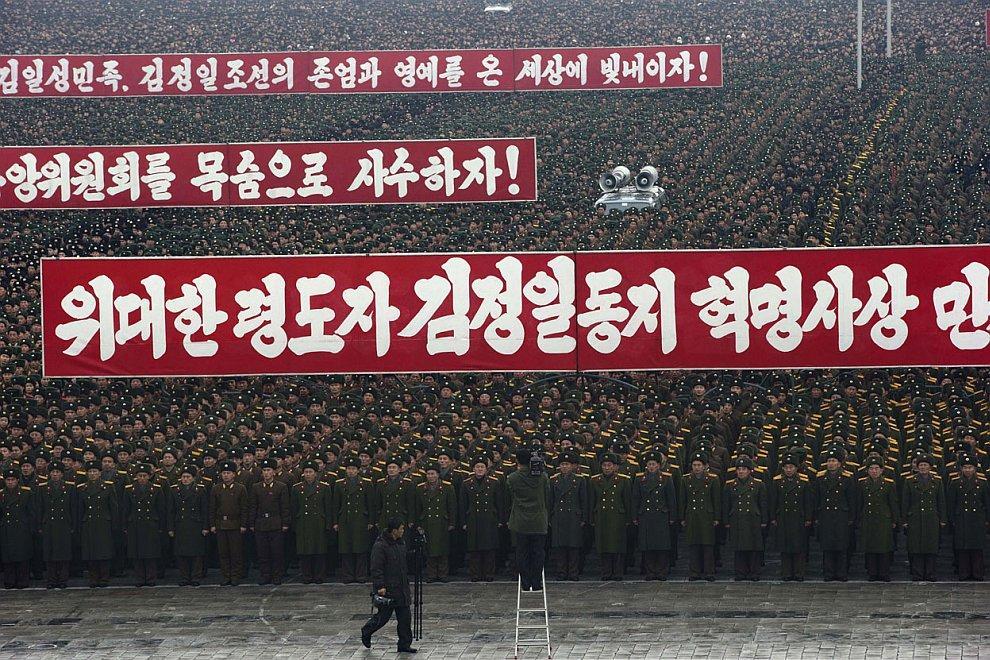 Парад в Пхеньяне по случаю успешного запуска ракеты «Млечный путь»