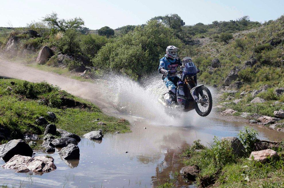 Француз Винцент Гуидани на Ямахе. 9-й этап ралли Дакар, Аргентина