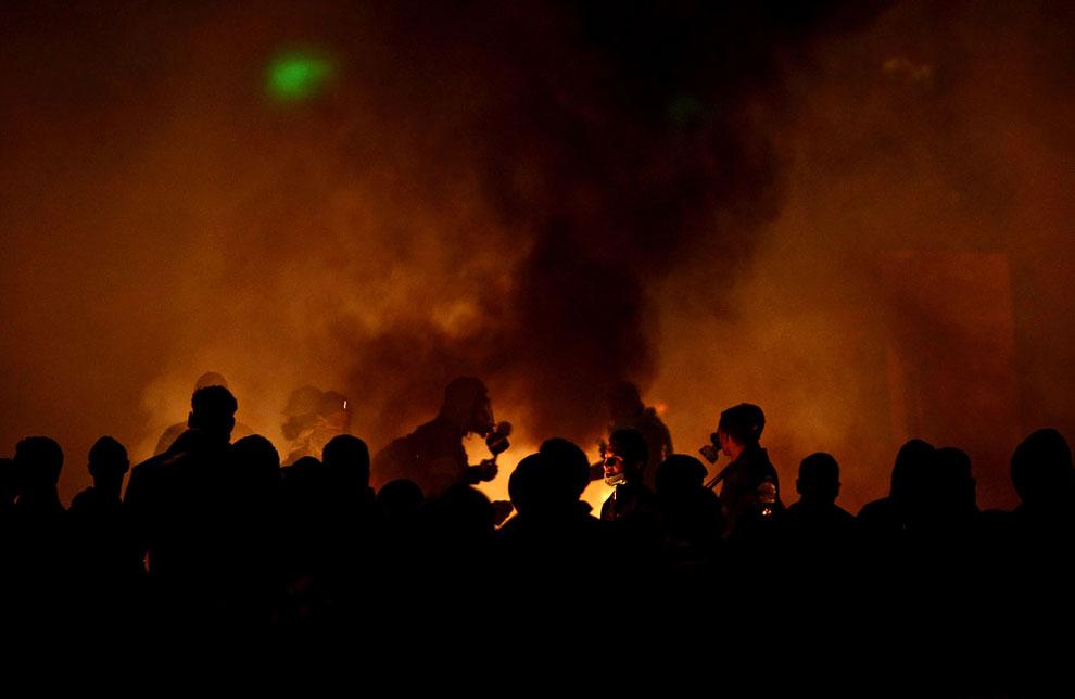 27 января столкновений в центре Каира вспыхнули с новой силой