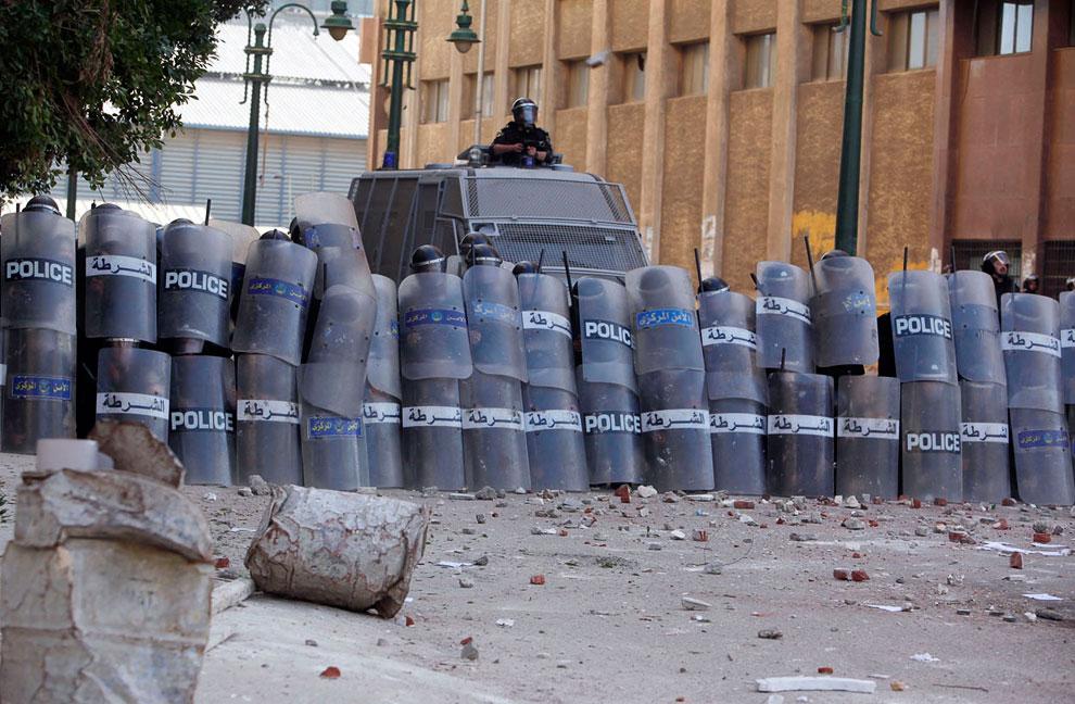 Столкновения в Александрии. Полицейские кордоны