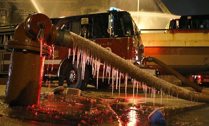 Замерзший огонь в Чикаго