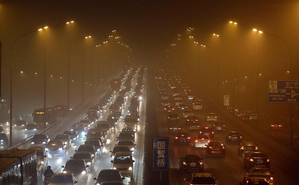 Туманное утро в Пекине