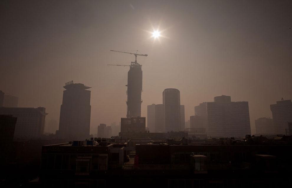 Ядовитый смог в Пекине, Китай, январь 2013-го