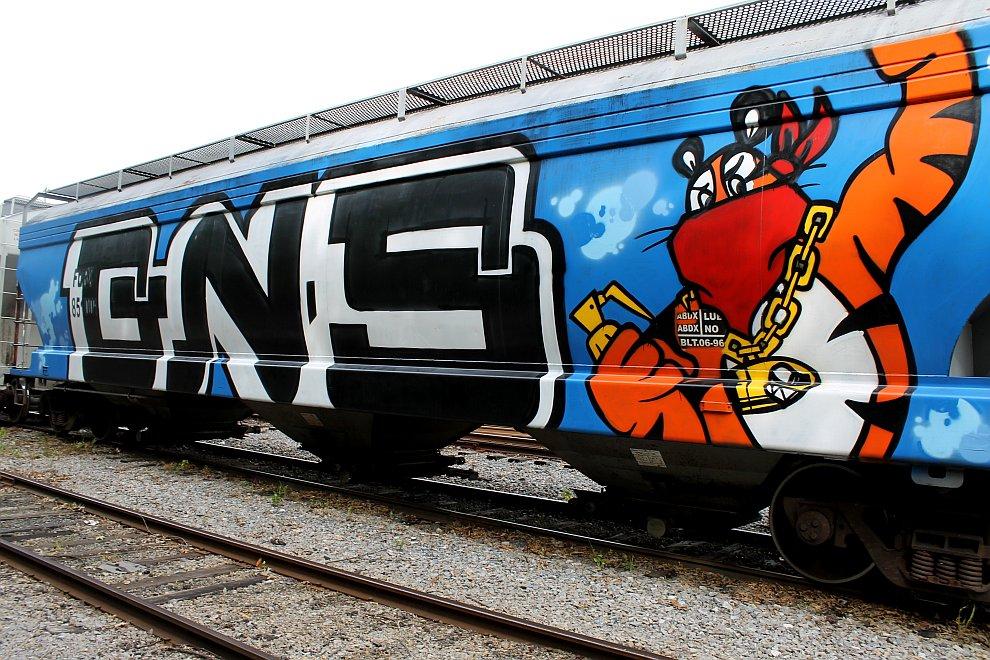 Граффити на вагонах