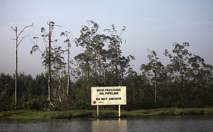 Предупреждающий щит компании Royal Dutch Shell