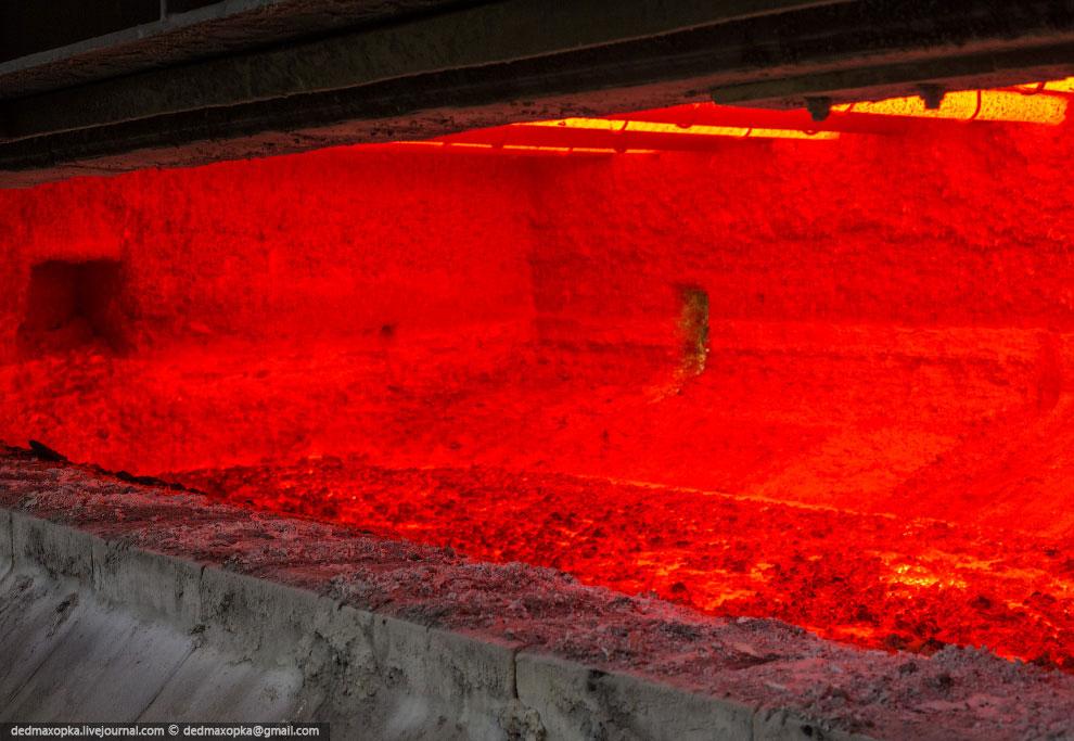 Температура металла в миксере более 800 градусов
