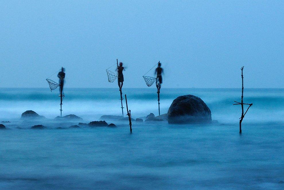 Традиционная рыбалка на сваях