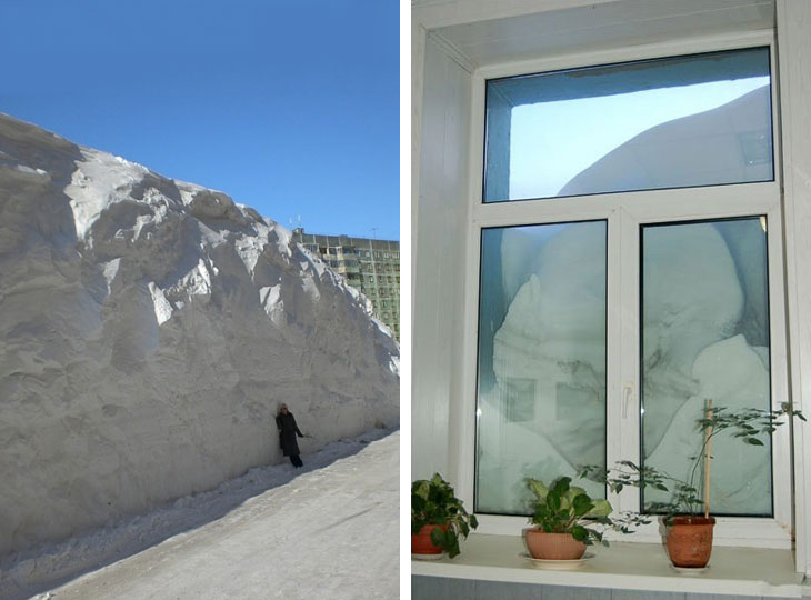 В конце августа последний снег идет