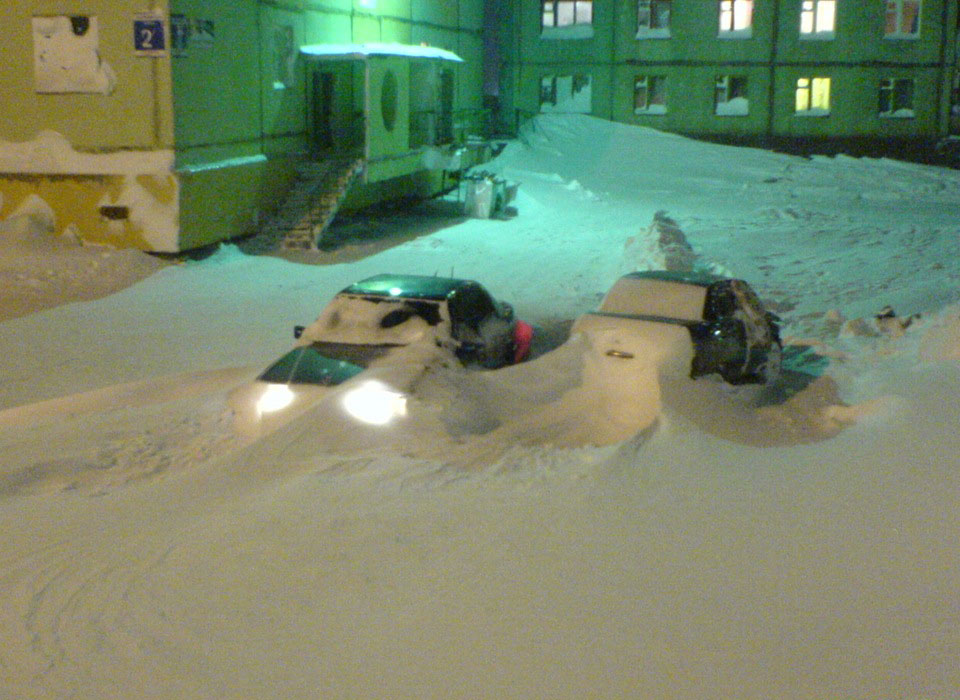 Обычная зима в Норильске