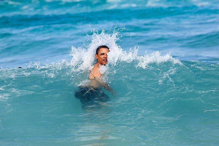 Новый год. В океане на Гавайях