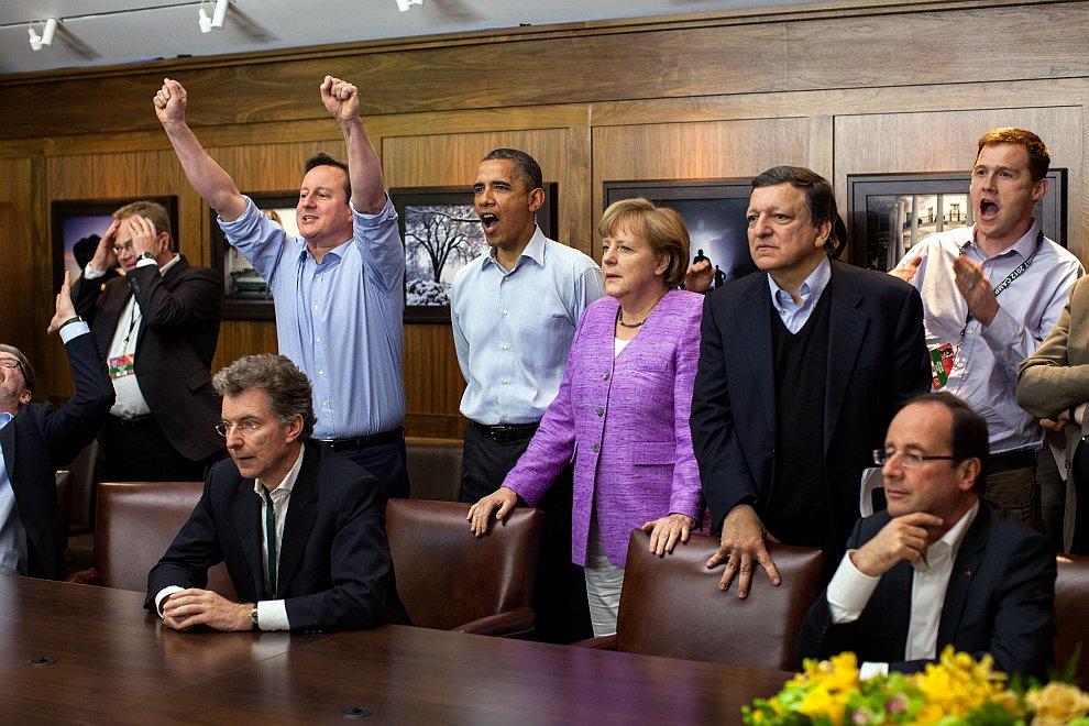 Саммит «Большой восьмёрки». Просмотр матча финала Лиги чемпионов, где играли Челси и Бавария