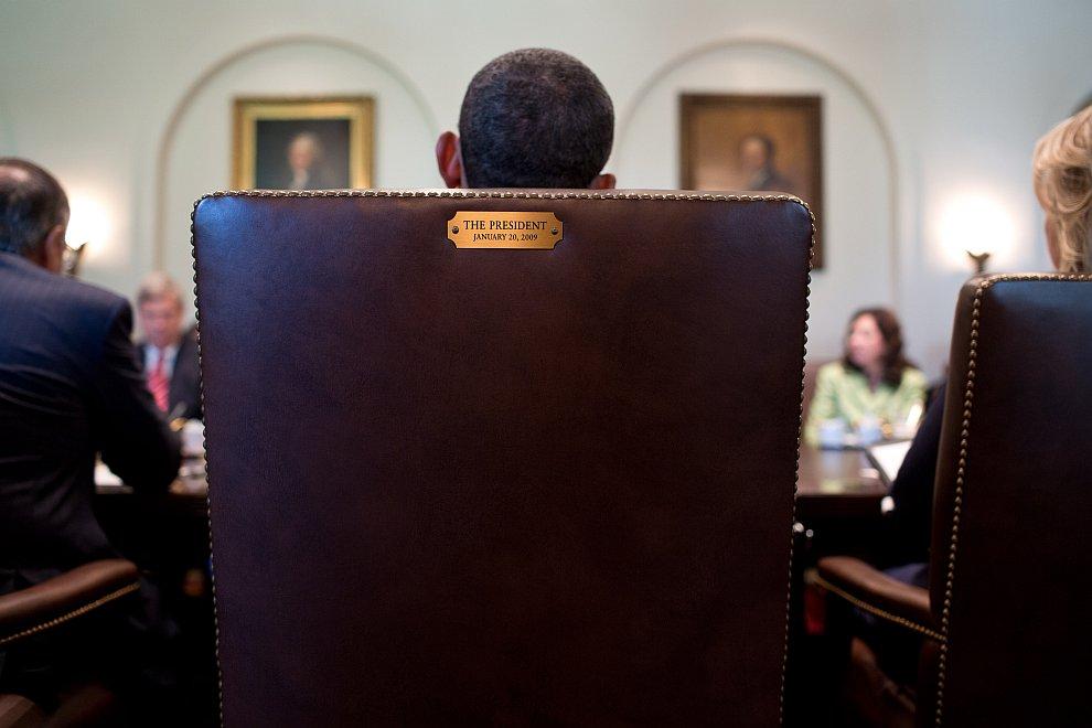 Президентское кресло. На заседании Кабинета министров