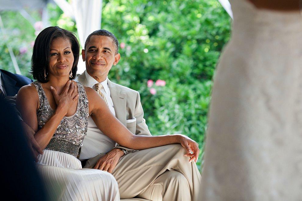 Барак Обама и его жена Мишель Обама
