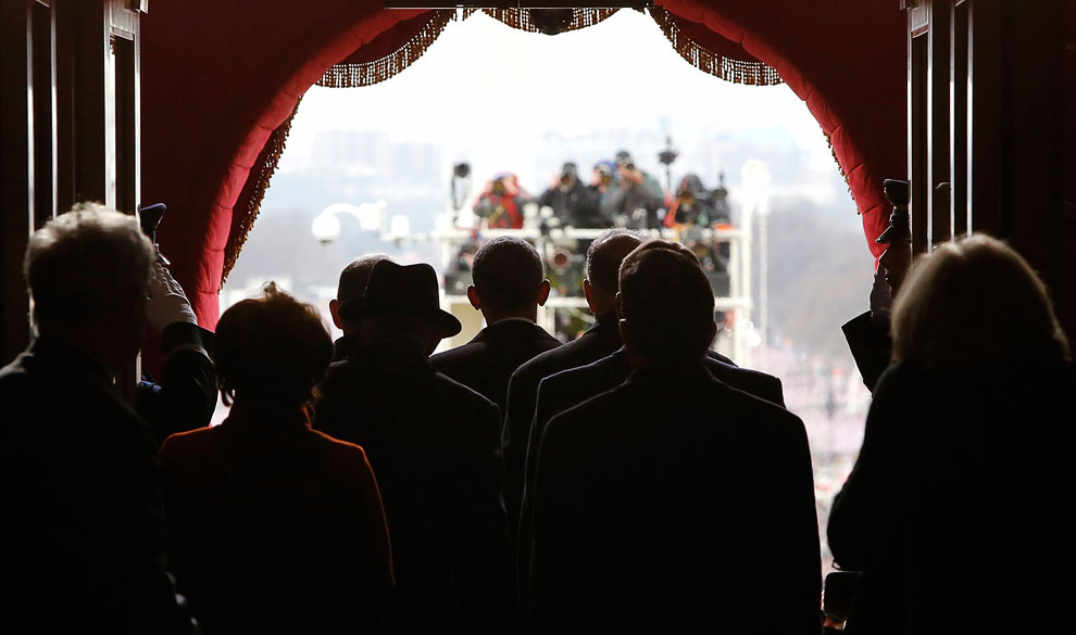 Волнительный момент. За несколько секунд до выхода на публику вновь избранного президента США