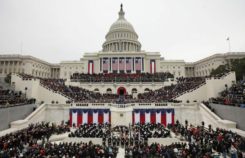Капитолий в Вашингтоне во время инаугурации президента США 21 января 2013