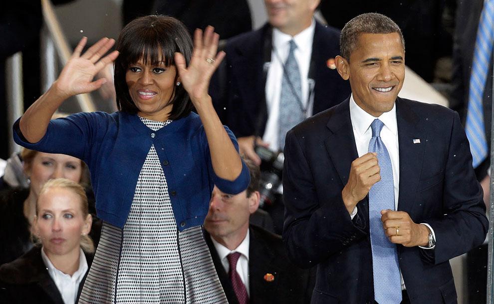 А затем Барак Обама отправился с женой на инаугурационные балы