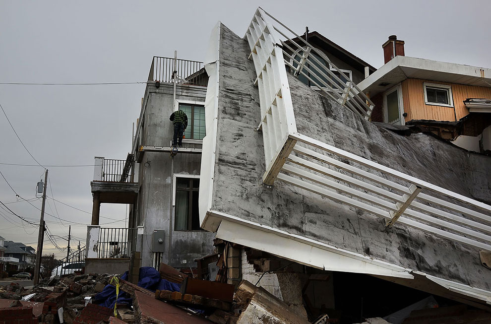 После урагана Сэнди разрушения серьезные