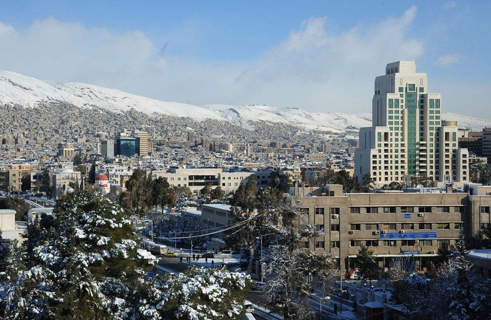 Снегопады прошли и в Сирии
