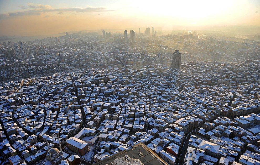 Снежный Стамбул, Турция